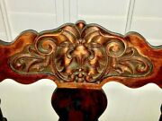 Stomps Burkhardt Victorian North Wind Saddle Chair 1800s Antique Carved Wood