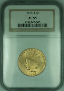 1913 Indian Eagle 10 Gold Coin Ngc Au-55 Kd