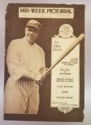August 5, 1920 Babe Ruth Mid-week Pictorial The New York Times Yankees Magazine
