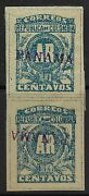 Stamps-panama. 1903 10c Ar H/stamp Panama In Violet. 2nd Colon Issue Sg Ar92a