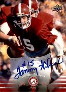 Tommy Wilcox Signed 2012 Upper Deck Alabama 43 Card Autographed 63436
