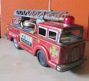 Vintage Fd Fire Dept Truck Tin Toy, Long 12 2/5 Or 31.5cm, Made In Japan