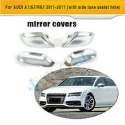 Mirror Frame Cap Ally Chrome H For Audi A7/s7/rs7 11-17 W/ Side Line Assistant