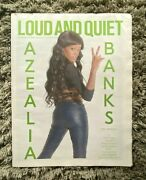 Rare Collectable Vintage Uk Loud And Quiet Music Newspaper Azealia Banks Unread
