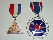 William Tell Usaf Air-to-air Weapons Meet Volksmarch 1982 Lot Of Two Medals