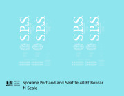 K4 N Decals Spokane Portland And Seattle 40 Ft Boxcar White