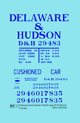 K4 G 129 Decals Delaware And Hudson 50 Ft Boxcar Blue