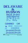 K4 G 132 Decals Delaware And Hudson 50 Ft Boxcar Blue