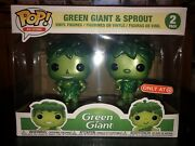 Funko Pop Green Giant And Sprout Metallic 2-pack Target Exclusive Lot Of 3