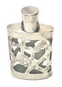 Vintage Antique Continental Silver Perfume Snuff Box Bottle Case Holder Old