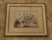 Extremely Rare 1893 Framed Football Team Photo-19 1/2 X 22 3/4 Inches-amazing
