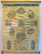 Vintage Roll School History Holland Years 445-843 Antique Poster 65x86cm Cartel