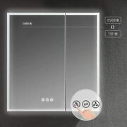 Led Mirror Medicine Cabinet W/defogger Dimmer 3x Makeup Mirror Outlets And Usb