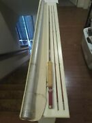 Sewell Dunton Model 157 7and0390 2/2 4wt. Anglers Choice Bamboo Fly Rod With Origi