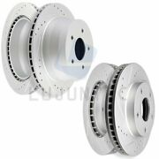 Brake Disc Rotors Front And Rear For 1998-2003 Chevy S10 97-02 Chevrolet Blazer