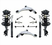Front Struts Shocks Control Arms Tie Rods And Links For 09-14 Murano 4 Door 12pc