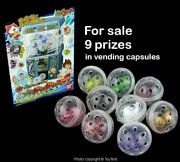 Gashapon Prizes And Stickers For Bandai Table Top Vending Machine Toy Parts Only