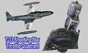 Lockheed T-33 Shooting Star Throttle Quadrant - Very Rare And Collectable