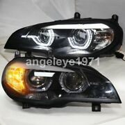 2007-2010 Year For Bmw X5 E70 Afs Version Led Angel Eyes Headlights Lamps Sn