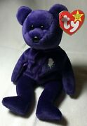 Collectible Ty Beanie Baby Princess Diana Bear Very Rare A+ With Free Shipping