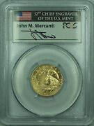 1992-w Columbus 5 Commemorative Gold Coin Pcgs Ms-69 John Mercanti Signed