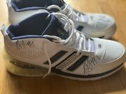 Stephen Jackson Game Used Nba Signed Autographed Shoes 4 Autos Total Very Rare