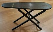 Antique Folding /adjustable Wooden Ironing Board 31 1/4andtimes9 3/4 Rustic Primative