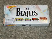 The Beatles Hot Wheels 5-car Premium Set Of Collectible Cars In Box