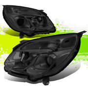 Factory Style Halogen Headlight Lamps For Chevy Equinox 16-17 Smoked Clear Pair