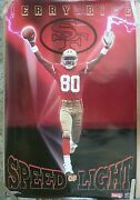 Rare Jerry Rice 49ers Speed Of Light 1991 Vintage Orig Nfl Costacos Bros Poster