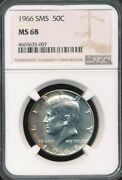 1966 Kennedy Half Dollar Special Mint Set Sms Ngc Ms 68