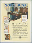 Vintage 1922 Fairbankand039s Gold Dust Washing Powder Soap Detergent 20and039s Print Ad
