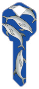 5 Blank House Keys For Schlage Locks Dolphin Theme Sc1 Collectible Keyway