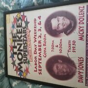 Monkees Large Signed Poster Foamboard Micky Dolenz And Davy Jones From 94 Vegas