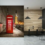 3d Red Phone Booth O243 Wallpaper Wall Mural Self-adhesive Assaf Frank Fay