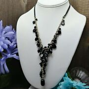 Mamas Estate Coldwater Creek Canton Cluster Necklace Adjustable R3-1