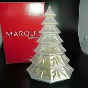 Waterford Crystal Frosted Rare White Christmas Tree - 6 1/2