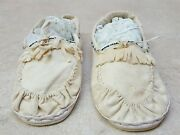 Mens Size 9 1/2 Hand Crafted Beaded Buckskin Native American Indian Moccasins