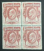 Momen Falkland Islands Sg 50 1904 Block Mint Og H Lot 60507