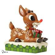 Jim Shore For Enesco Large Rudolph With Lifted Nose Figurine 89