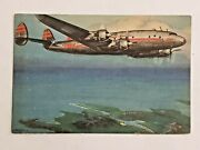 Vintage Compliments Of Twa Postcard Super Connie Shannon Trans World Airlines
