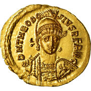 [489548] Coin Theodosius Ii Solidus Thessalonica Gold Ric366
