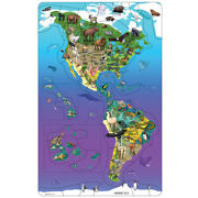 North South America Wildlife Animals 50 Piece Puzzle,educational, Ages 3+