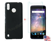 Soft Tpu Case Cover + 9h Tempered Glass For Zte Blade A3 Prime Z5157v Phone Read