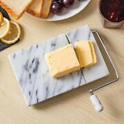 Marble Cheese Slicer With 2 Replacement Wires, White