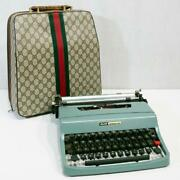 Olivetti Lettera 32 Typewriter Vintage Limited Very Rare Preowned Dhl F/s