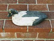 Primitive Antique Working Maine Handcarved Hand-painted Duck Decoy Old Paint