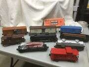 Lot Of 9 Vintage Lionel O Scale Train Cars With 2026 Locomotive