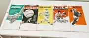 Nice Lot Of Five 1964 1965 1966 1967 And 1968 Baseball Handbook And Schedules
