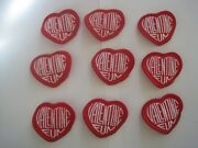 Girl Scout Valentine Fun Heart Shaped Patches Lot 9